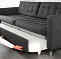 Ikea Ландскруна 693.198.78 (гуннаред темно-серый/металл)
