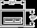 Geberit Sigma 50 115.788.SQ.5 (умбра)