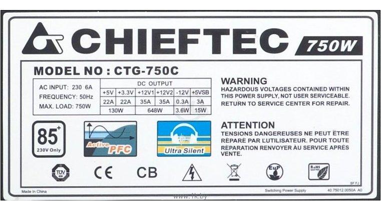 Фотографии Chieftec CTG-750C 750W