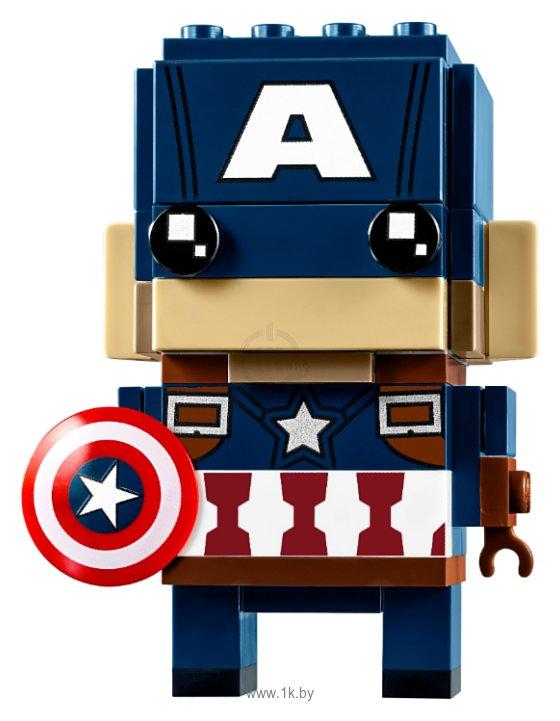 Фотографии Lepin Brick Heroes 43015 Капитан Америка