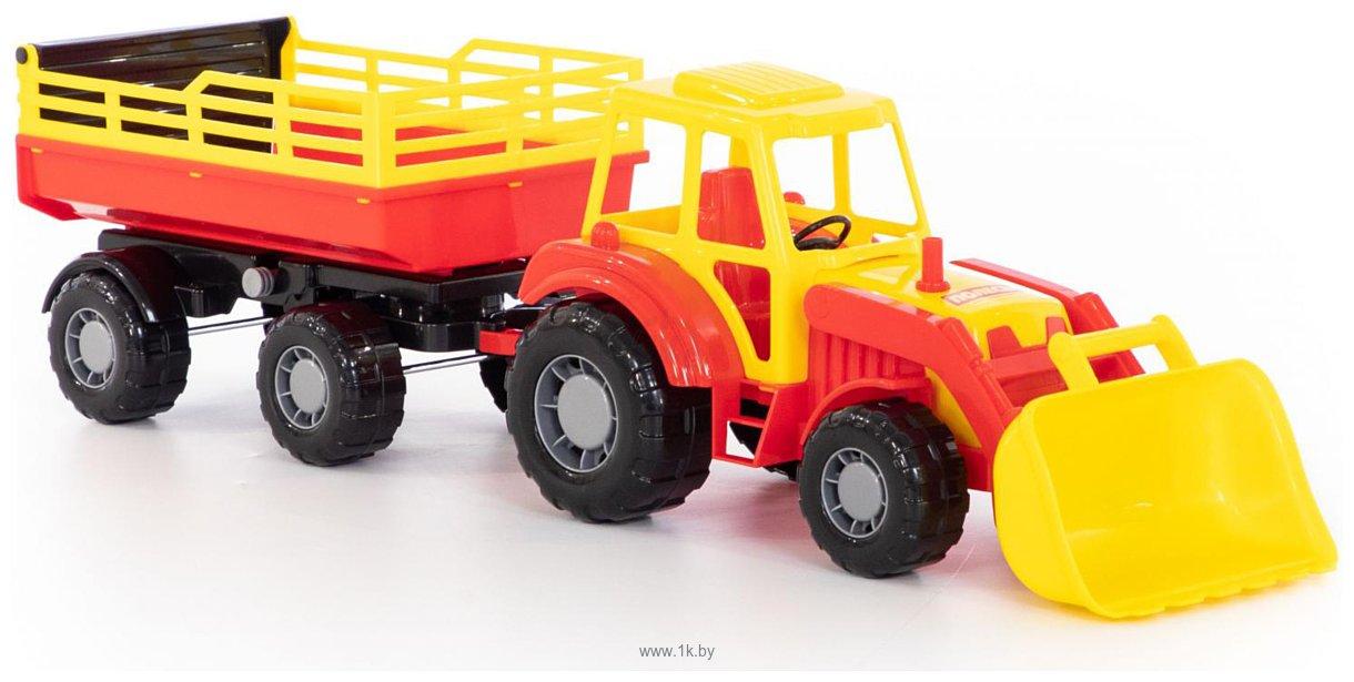 Фотографии Полесье Алтай трактор с прицепом №2 и ковшом 35363
