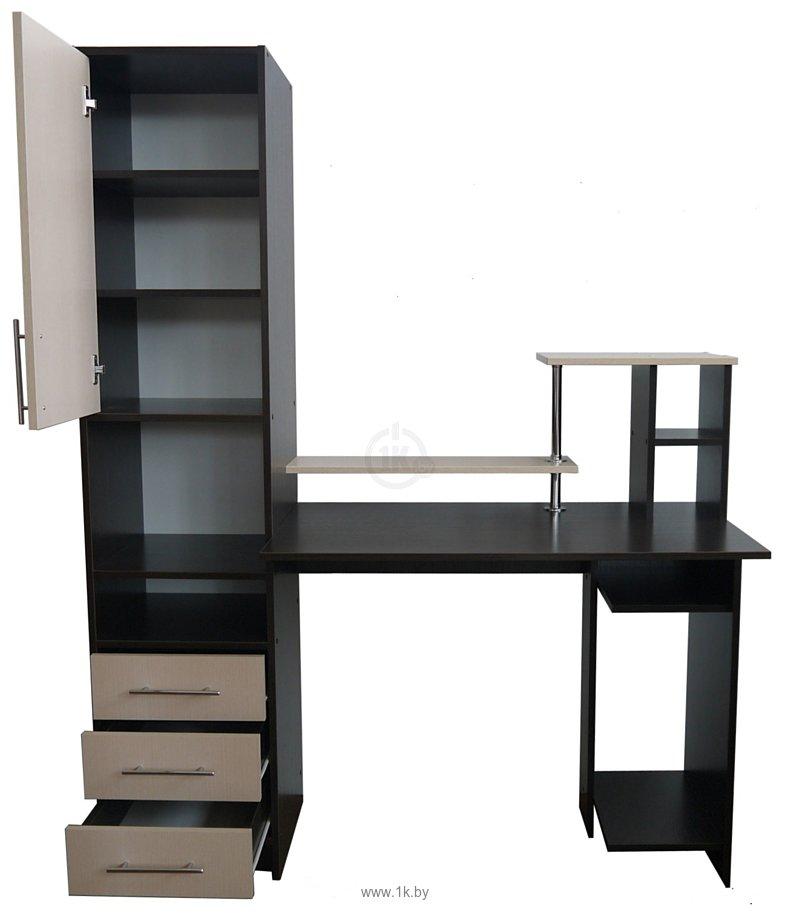 Фотографии Компас мебель КС-003-21 (венге темный/дуб молочный)