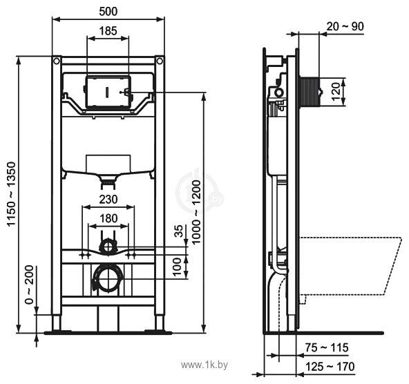 Фотографии Ideal Standard Tesi AquaBlade T007901+T352701+R020467