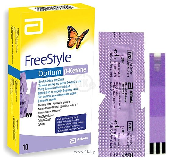 Фотографии Abbott FreeStyle Optium b-Ketone (10 шт)
