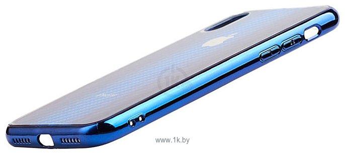 Фотографии EXPERTS AURORA GLASS CASE для iPhone X/XS с LOGO (синий)