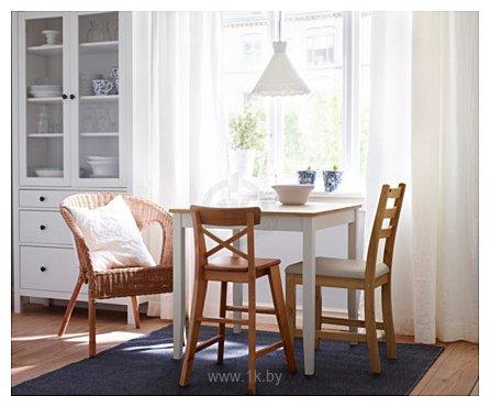 Фотографии Ikea Лерхамн (морилка антик/виттарид бежевый) (303.609.20)