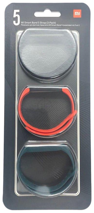 Фотографии Xiaomi для Mi Band 5 (черный/оранжевый/темно-зеленый)