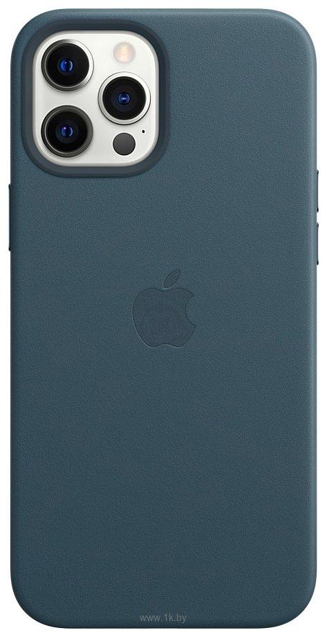 Фотографии Apple MagSafe Leather Case для iPhone 12 Pro Max (балтийский синий)