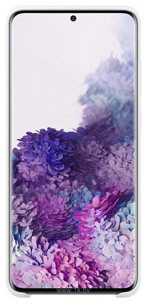 Фотографии Samsung Silicone Cover для Galaxy S20 Ultra (белый)