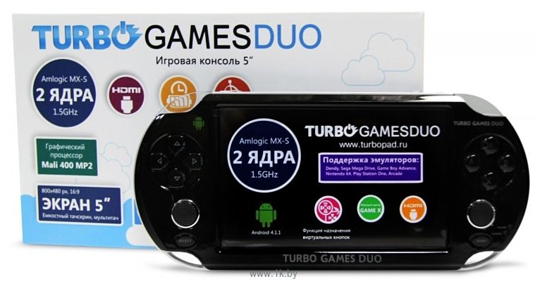 Игравая приставка 5 Turbo Games 1500МГц 2 ядра wifi hdmi 8гб. На гл
