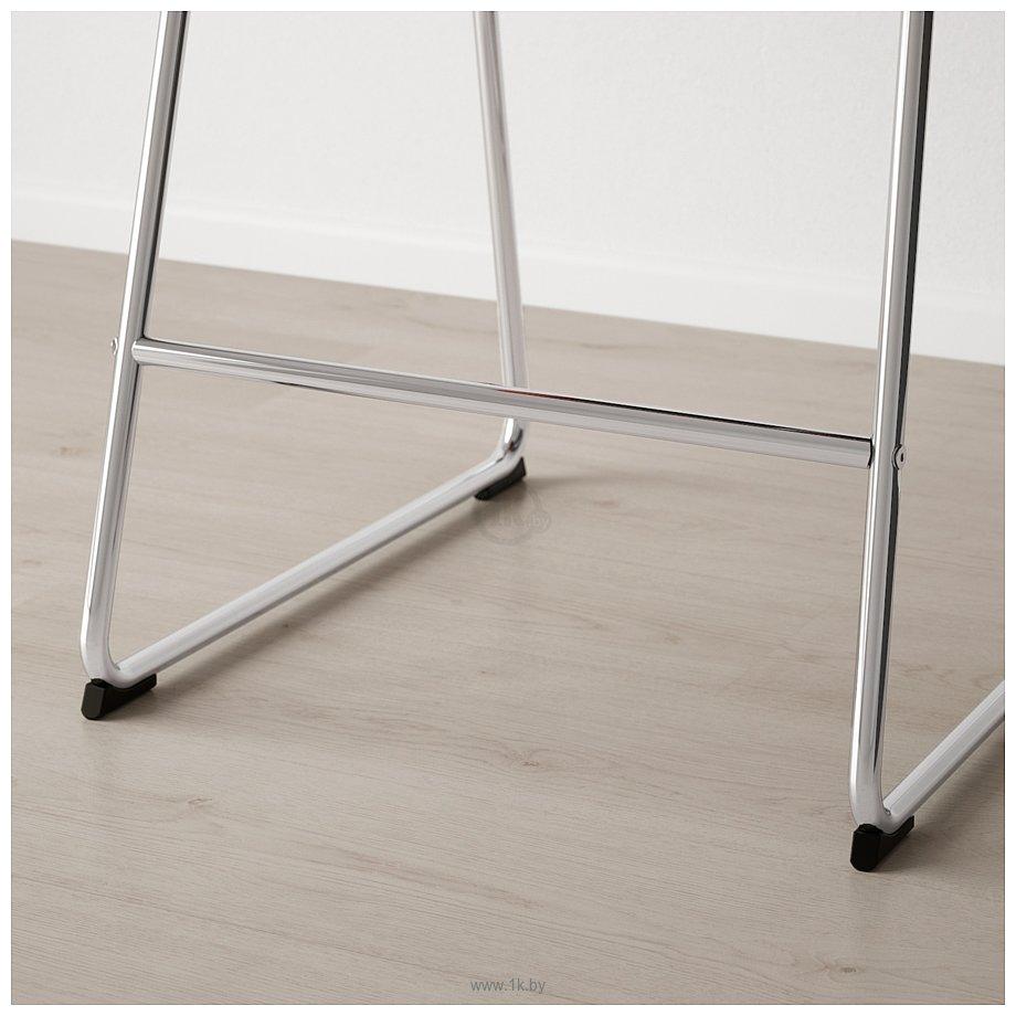 Фотографии Ikea Бернгард (хром/мьюк темно-коричневый) 604.614.42