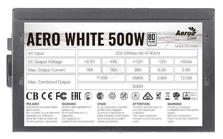 Фотографии AeroCool Aero White 500W