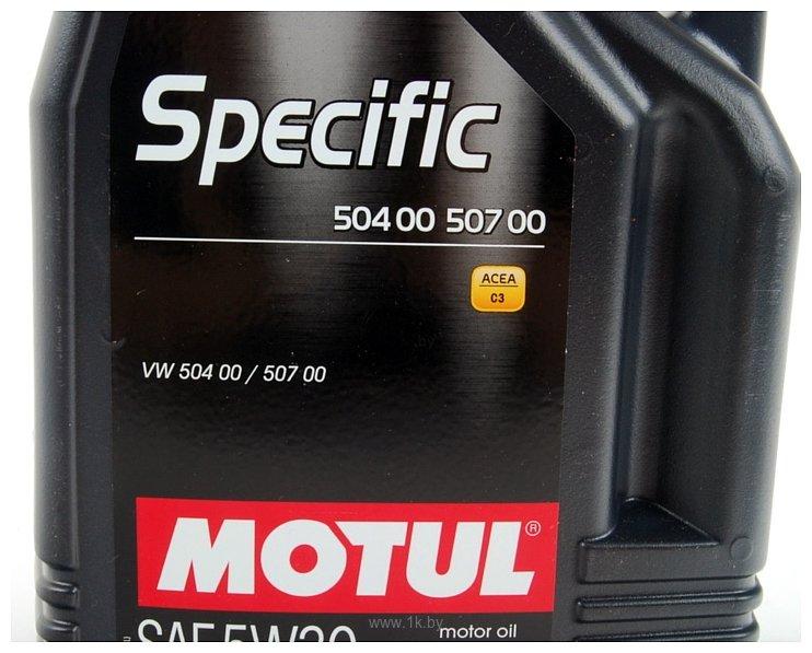 Фотографии Motul Specific VW 504.00/507.00 5W30 5л
