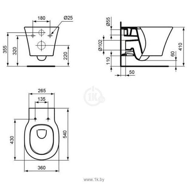 Фотографии Ideal Standard Connect Air AquaBlade E005401+E036601