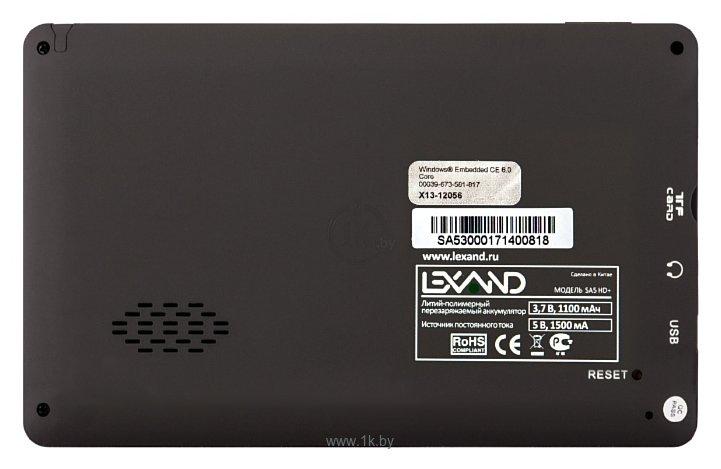 Фотографии LEXAND SA5 HD+