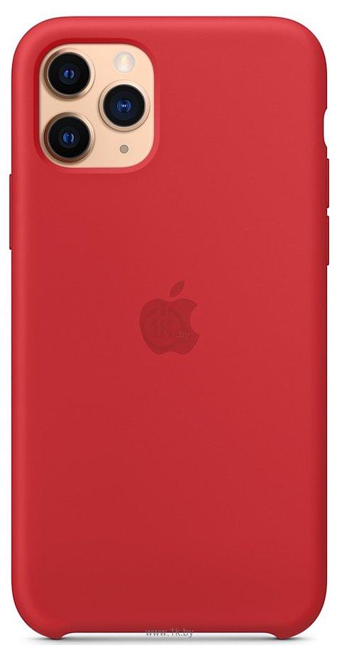 Фотографии Apple Silicone Case для iPhone 11 Pro Max (красный)