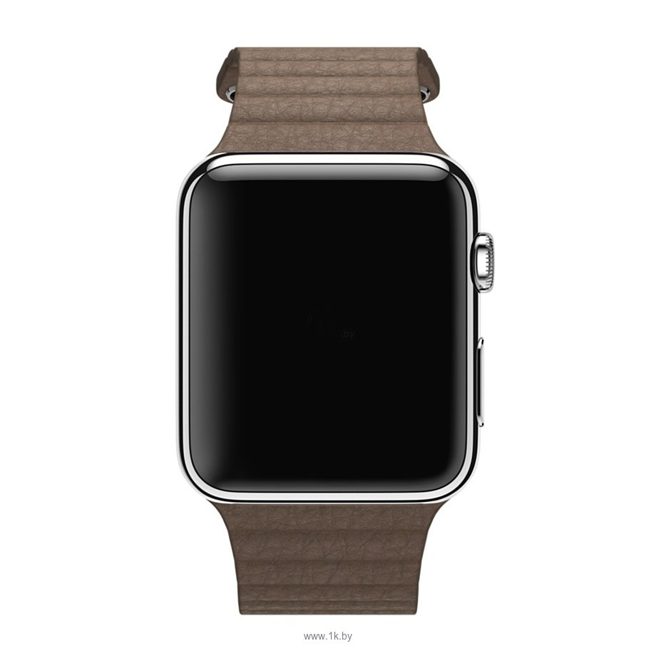 Фотографии Apple Watch 42mm Stainless Steel with Light Brown Leather Loop (MJ402)