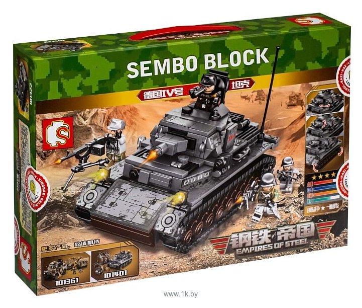 Фотографии Sembo Empires of Steel 101322 Немецкий Танк IV