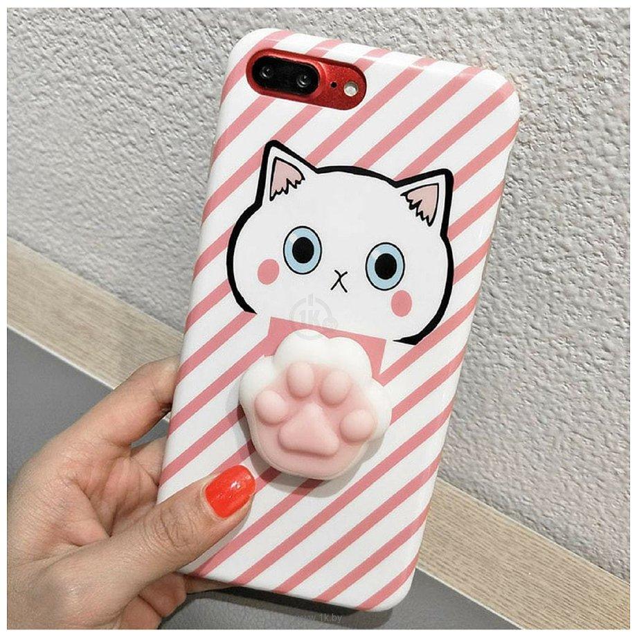 Фотографии AnimaCase Anti-stress для Apple iPhone 6/6S (розовый кот)