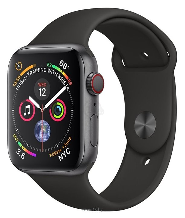 Фотографии Apple Watch Series 4 GPS + Cellular 44mm Stainless Steel Case with Sport Band