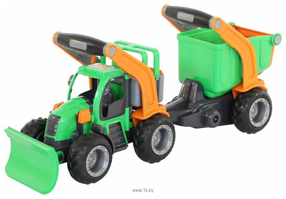 Фотографии Полесье ГрипТрак Трактор снегоуборочный с полуприцепом 37381