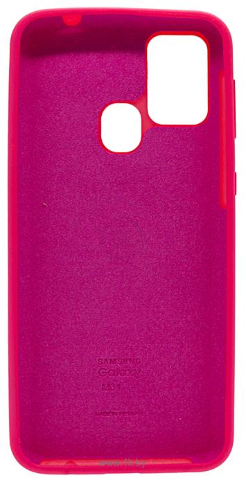 Фотографии EXPERTS SOFT-TOUCH case для Samsung Galaxy M21 с LOGO (неоново-розовый)