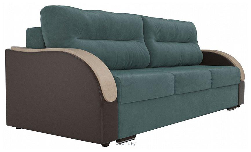 Фотографии Лига диванов Дарси 102105 (бирюзовый/коричневый)