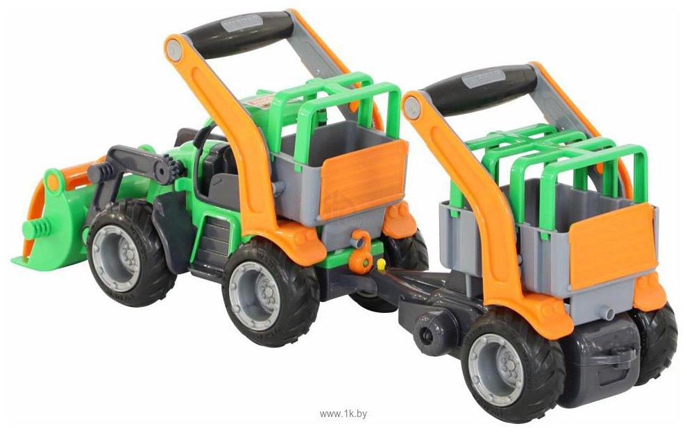 Фотографии Полесье ГрипТрак трактор-погрузчик с полуприцепом для животных 48417