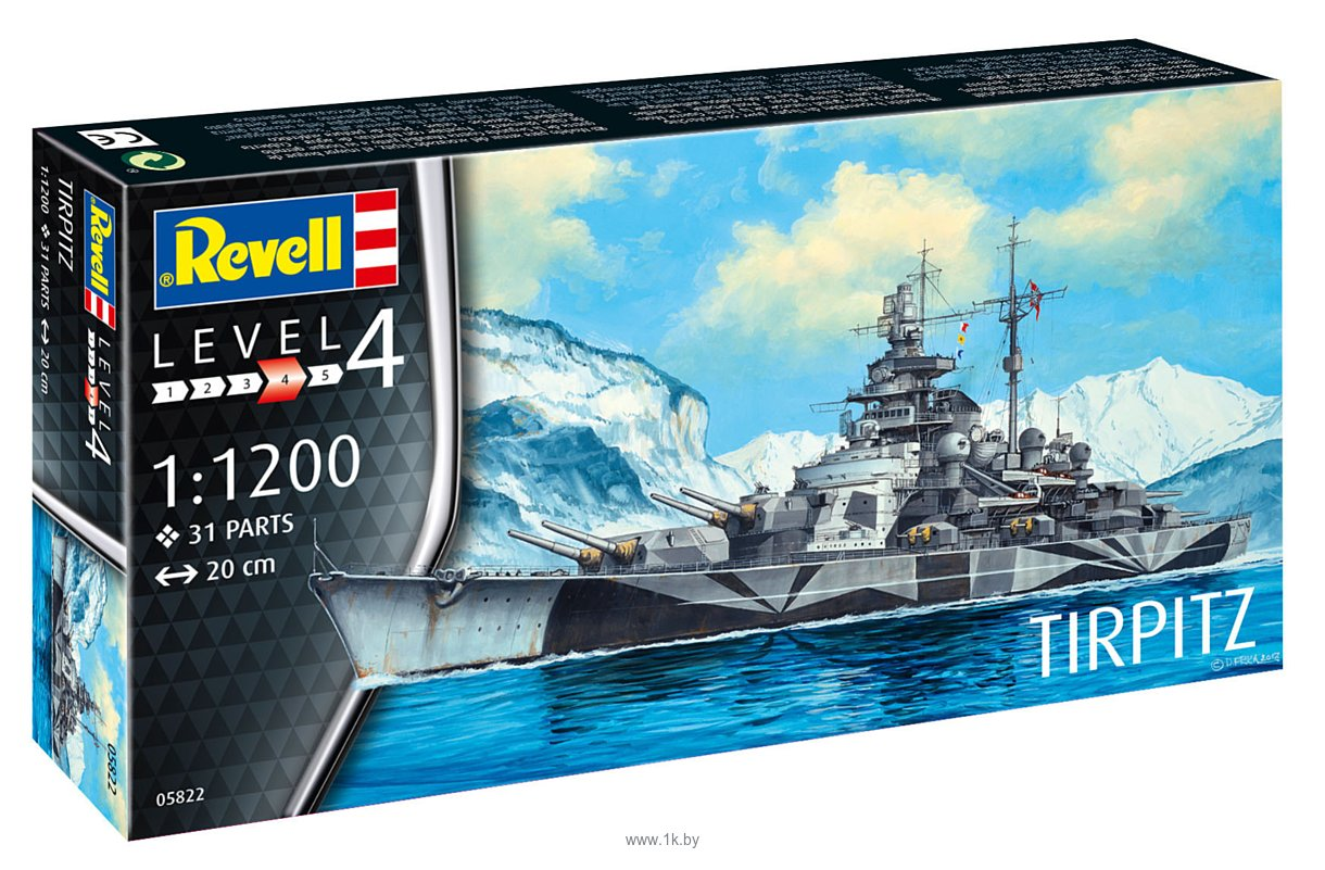 Фотографии Revell 05822 Немецкий линкор Tirpitz