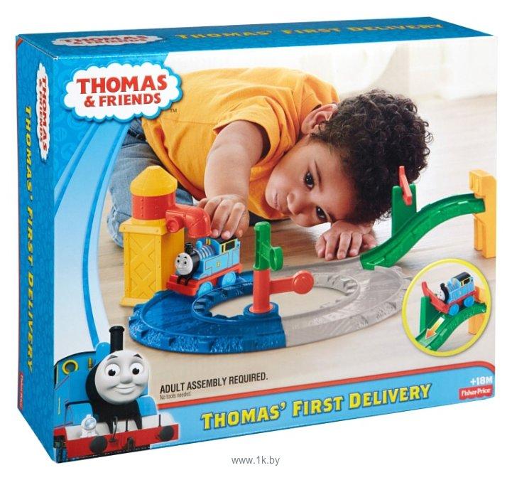 """Фотографии Thomas & Friends Набор """"Первая доставка грузов Томаса"""" серия Preschool BCX80"""