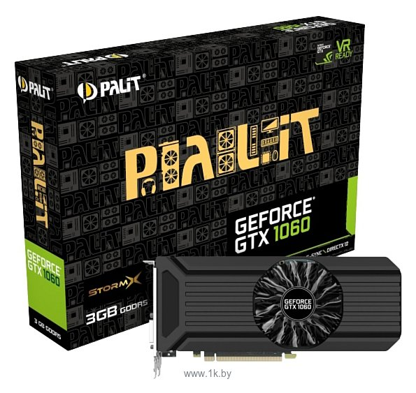 Фотографии Palit GeForce GTX 1060 1506Mhz PCI-E 3.0 3072Mb 8000Mhz 192 bit DVI HDMI HDCP StormX