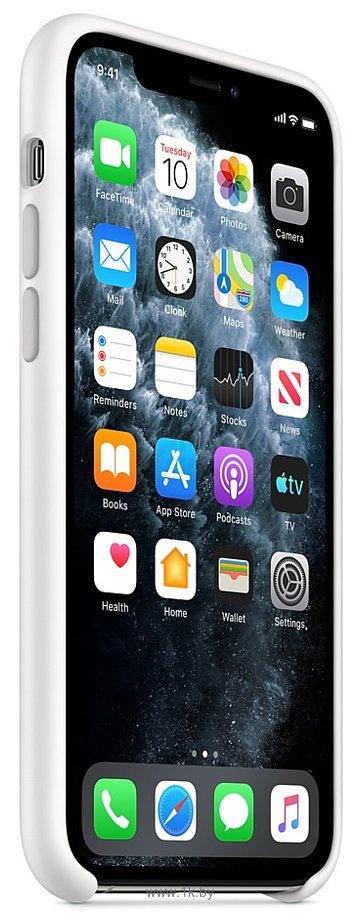 Фотографии Apple Silicone Case для iPhone 11 Pro Max (белый)