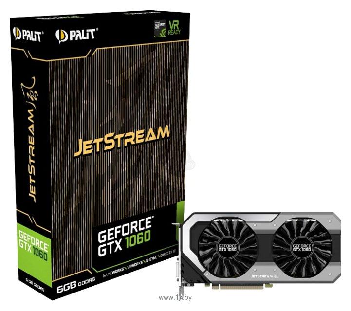 Фотографии Palit GeForce GTX 1060 1506Mhz PCI-E 3.0 6144Mb 8008Mhz 192 bit DVI HDMI HDCP JetStream