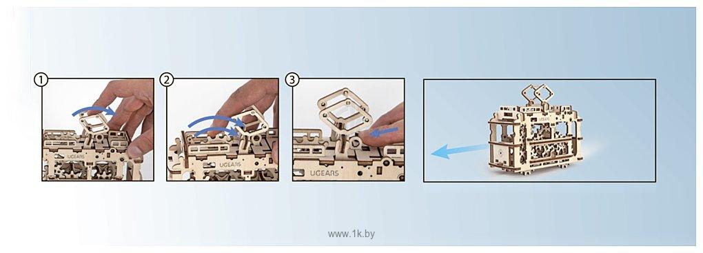 Фотографии Ugears Трамвай с рельсами