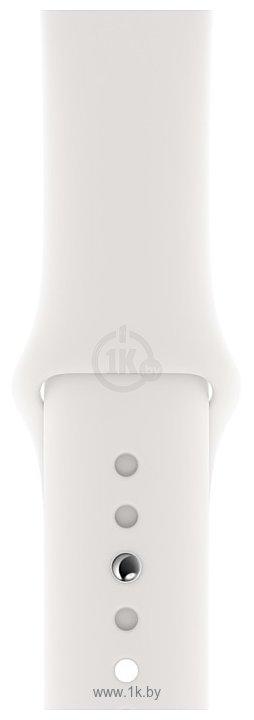 Фотографии Apple спортивный 44 мм (белый) MTPK2