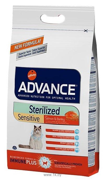 Фотографии Advance (1.5 кг) Cat Sterilized Sensitive лосось и ячмень