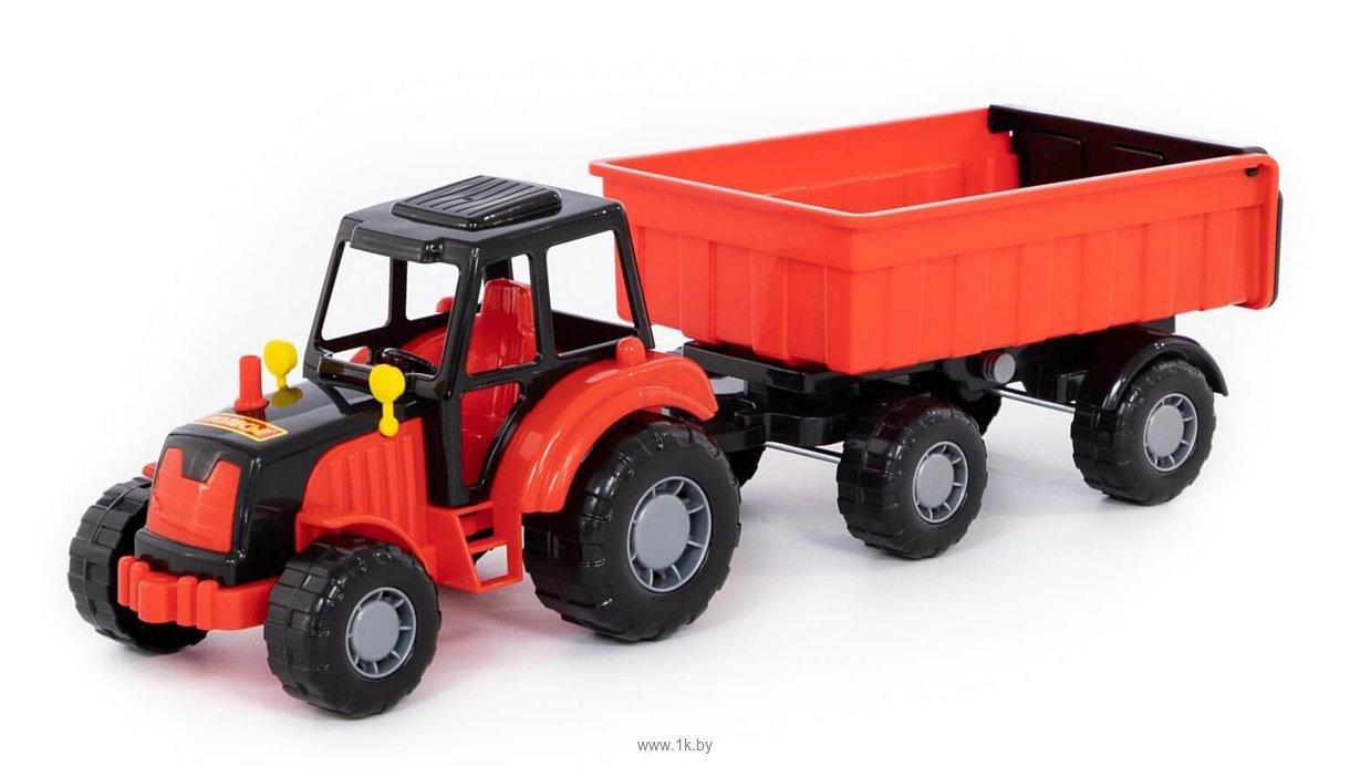 Фотографии Полесье Мастер трактор с прицепом №1 35257