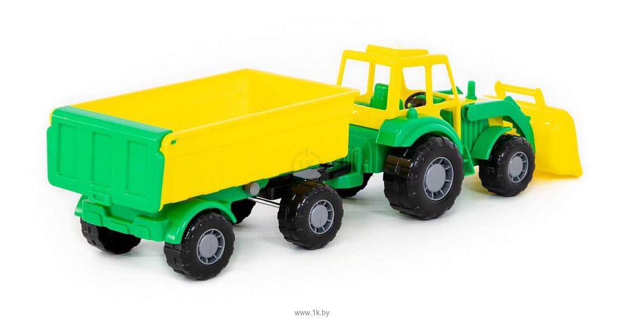 Фотографии Полесье Мастер трактор с прицепом №1 и ковшом 35264