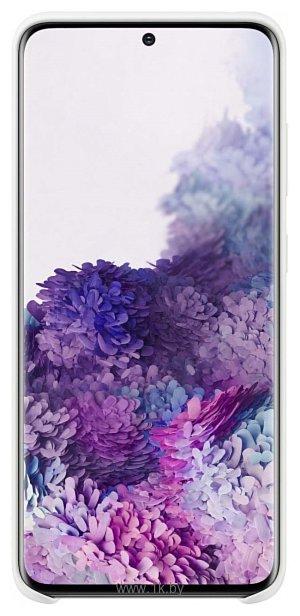 Фотографии Samsung Silicone Cover для Galaxy S20 (белый)