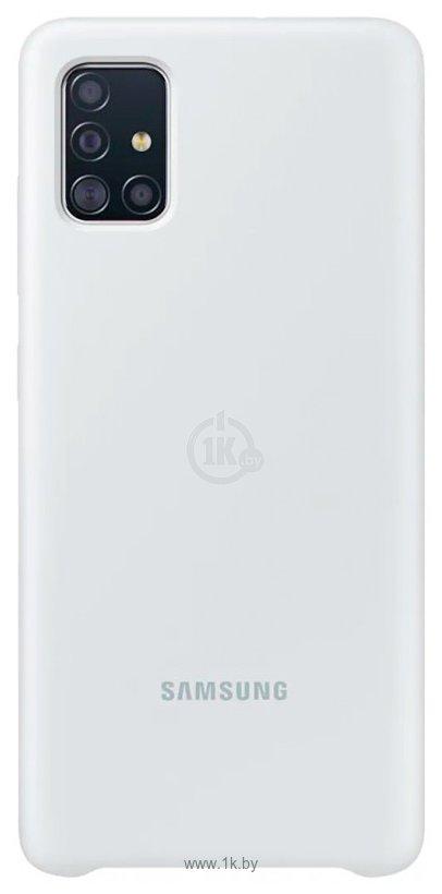 Фотографии Samsung Silicone Cover для Samsung Galaxy A51 (белый)