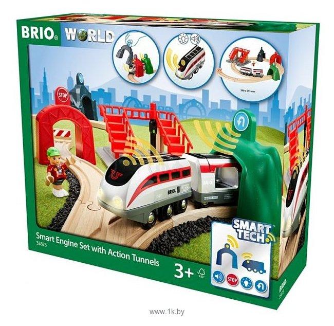 Фотографии Brio Стартовый набор с поездом и управляющими тоннелями серия Smart Tech 33873