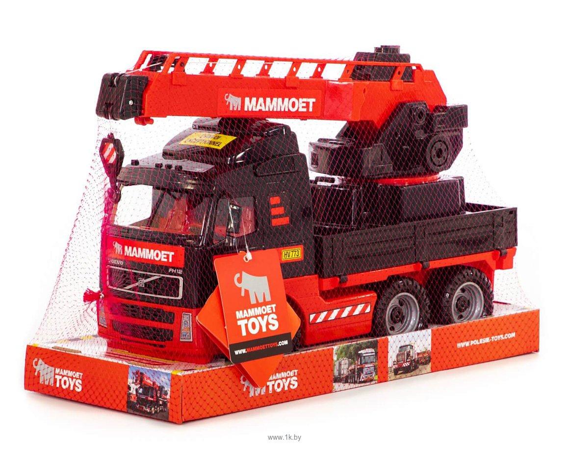 Фотографии Полесье Автомобиль-кран с краном Mammoet Volvo (в лотке) 57099