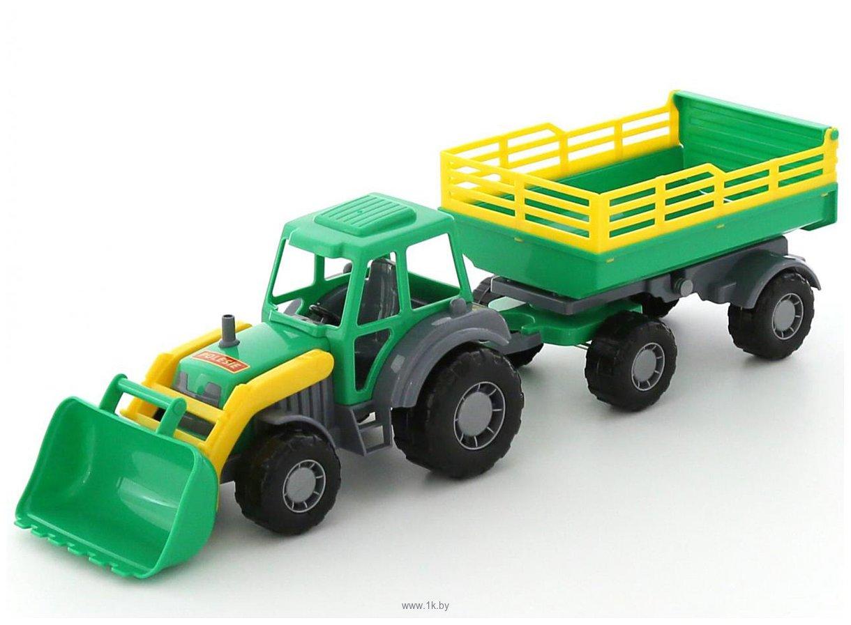 Фотографии Полесье Мастер трактор с прицепом №2 и ковшом 35288