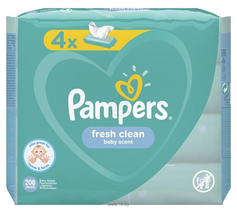 Фотографии Pampers Fresh Clean (4x52шт)