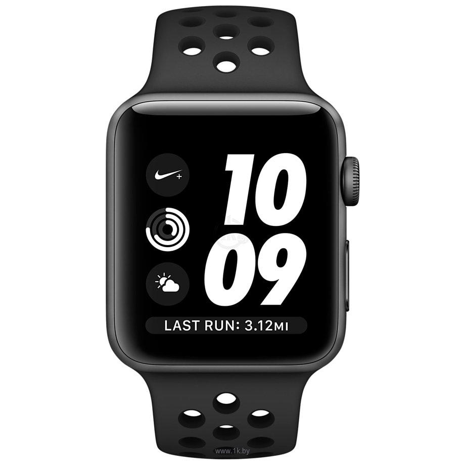 Фотографии Apple Watch Nike+ 42mm Space Gray with Black Nike Sport Band (MQ182)
