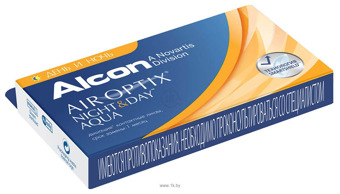 Фотографии Alcon Air Optix Night & Day Aqua +2 дптр 8.6 mm