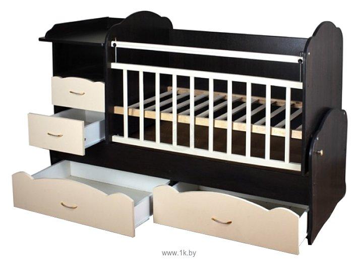 Кроватка трансформер bambu алиса
