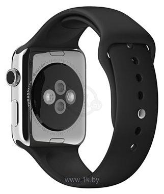 Фотографии Apple спортивный 44 мм (черный, размер M/L и L/XL) MU9L2