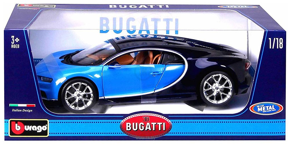 Фотографии Bburago Bugatti Chiron 18-11040 (синий)