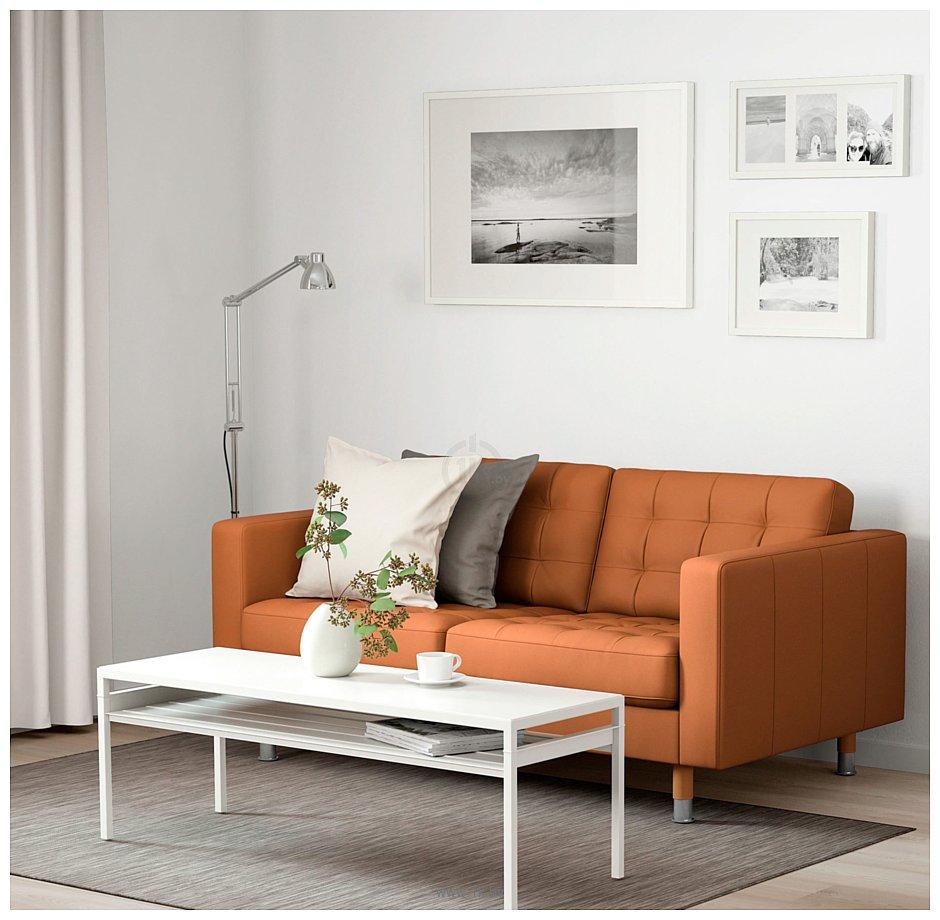 Фотографии Ikea Ландскруна 992.702.72 (бумстад золотисто-коричневый/металл)